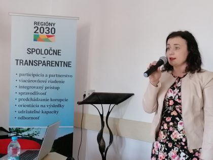 Do diskusie prispela aj primátorka mesta Poltár Martina Brisudová